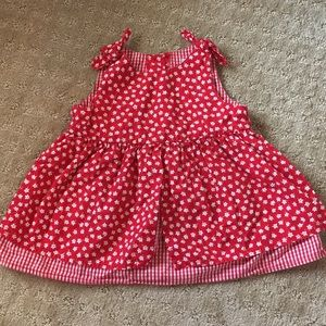Adorable Red Floral Vintage Style Top/Dress -2T